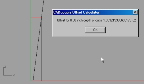CADucopia Offset Calculator closeup
